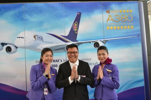 2012年的時候泰航A380首航,跟「泰國通」胡慧沖同團,到泰國採訪。