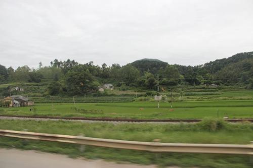 過了關,就來到越南的國境,對於這個陌生的國度,柏油馬路有點起伏,不知道前面是何處,有種出門遠行的感覺